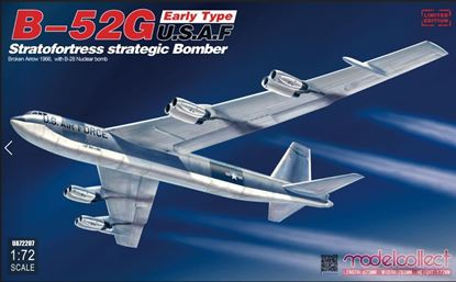 Picture of B-52G early type U.S.A.F stratofortress strategic bomber Broken Arrow 1966,  with B-28 Nuclear bomb